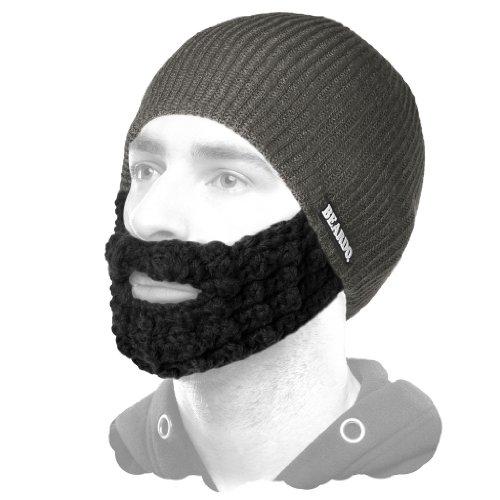 Beardo Attached Beard Hat, Dark Grey - Batt Cap
