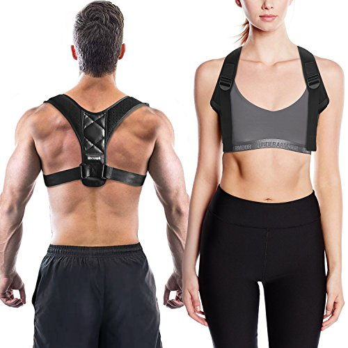 Posture Corrector for Women and Men, Neck Pain Relief, Upright Go , Back Straightener and Posture Brace - Chest Supports, Betterback Shark Tank - Clavicle Support Brace by Lifesoph by Lifesoph