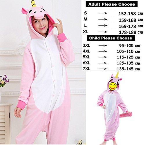 Amazon.com: MH-RITA Animal Pajamas Cute Unicorn Tiger Panda Cartoon Sleepwear Winter Unisex Adults Kids Flannel Pajama Sets,FlannelPinkPegasus1,4XL: ...