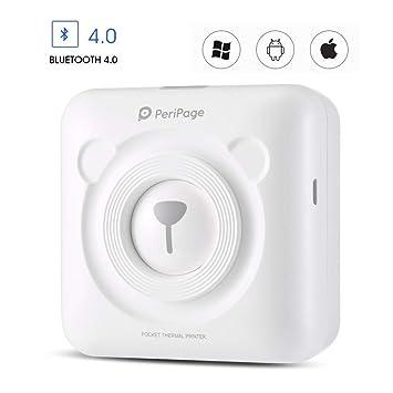 KURT Impresora de Bolsillo inalámbrica con Bluetooth PeriPage Mini ...