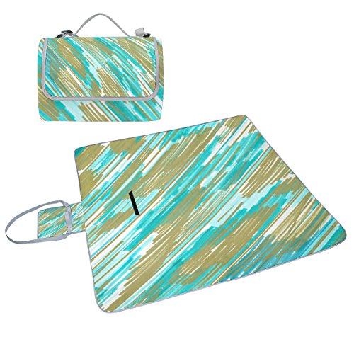 Coosun Breeze Couverture de pique-nique Sac pratique Tapis résistant aux moisissures et étanche Tapis de camping pour les pique-niques, les plages, randonnée, Voyage, Rving et sorties