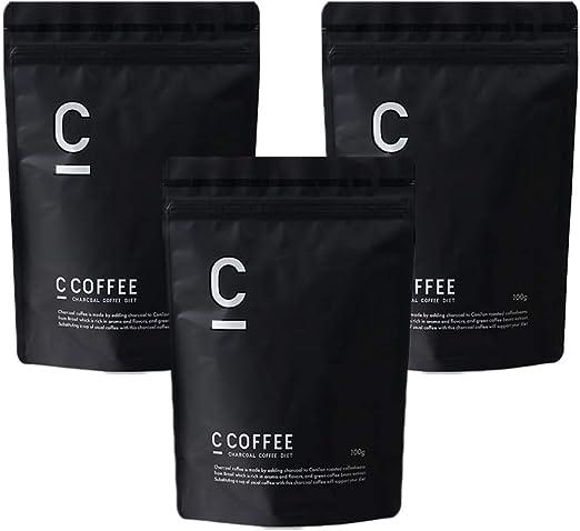 ダイエット コーヒー C COFFEE シーコーヒー 【 チャコール mctオイル パウダー オーガニック 炭 ダイエット サプリ の代わりに 脂肪燃焼系 サポート 置き換え 】 (ブラジル産 コーヒー豆 100%)