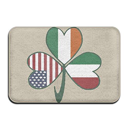 Cheap  Inside & Outside Floor Mat Italian Irish American Shamrock Design Pattern For..