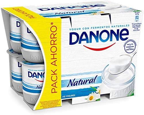 Danone Yogur Natural - Paquete de 12 x 125 g - Total: 1500 g ...