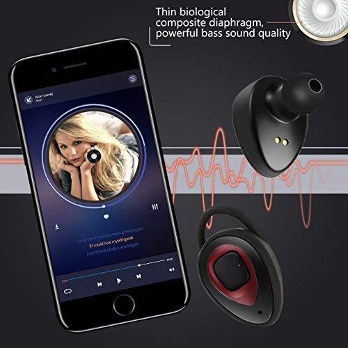 Auriculares Bluetooth Inalámbricos Auriculares Inalambricos iPhone WiFun Con Micrófono, Gemelos Estéreo V4.1 Auriculares Con Cancelación de Ruido Para ...