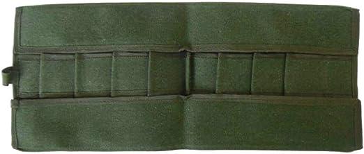 Japonés Herramientas Bonsai Almacenaje Pack Bolsa Rollo 600x430MM Lona Herramienta Set Estuche: Amazon.es: Hogar