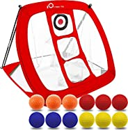 Pop Up Golf Chipping Pitching Practice Net Set, for Men, Outdoor Indoor Backyard Target Accessories Swing Tool