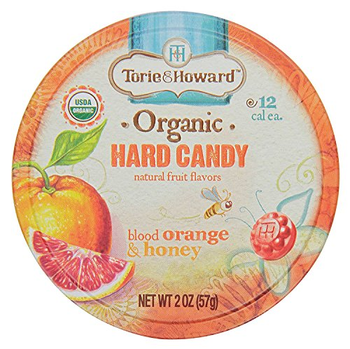 Torie and Howard Organic Hard Candy Tin, Blood Orange and Honey, 2 (Orange Hard Candy)