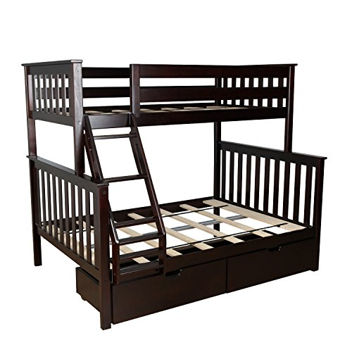 twin over full espresso bunk bed - 8