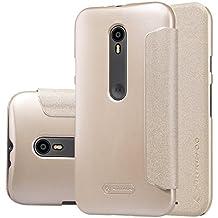 Nillkin Moto G3 (3rd Gen) XT1550 Sparkle Leather Case, Retail Packaging, Golden