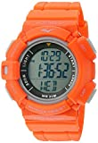 Everlast 'Heart Rate Monitor' Automatic Plastic and Rubber Fitness Watch, Color:Orange