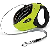 Retractable Dog Leash Extendable for Small Medium Large Dogs One Button Break & Lock Easy Control-Extends up to 5 Meters Up to 110 lbs by Pecute
