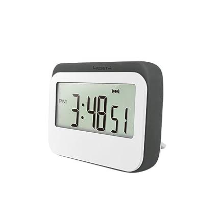 Gazechimp Reloj Contador de Tiempo de Termómetro Digital Inalámbrico Decoración de Escriotorio de Casa - Gris