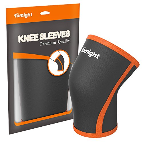 Knee Sleeve, Tomight Knee Brace 7mm Neoprene Knee Compression Support for Knee Support & Patella Protection for Both Men and Women