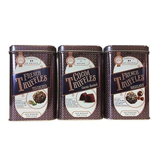 Prestige Confiseur Truffles Assortment, Various Assortment (hazelnut, cocoa dusted, pistachio,3 pk.) - Cocoa Pistachio