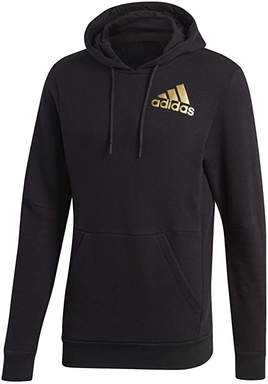 Details about adidas 3 STRIPE SPORT ID HOODIE FULL ZIP MENS ESSENTIALS SPORTS FITNESS PULLOVER