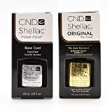CND Shellac Top & Base Coat Soak Off GEL .25 oz CREATIVE Nail Polish UV Lamp