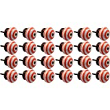 Nicola Spring Ceramic Cupboard Drawer Knobs - Stripe Design - Orange - Pack Of 24
