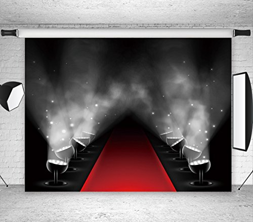 LB 7X5ft Hollywood Backdrop Vinyl Photography Backdrop Customized Photo Background Studio Prop (5 Safety Rules For Halloween)