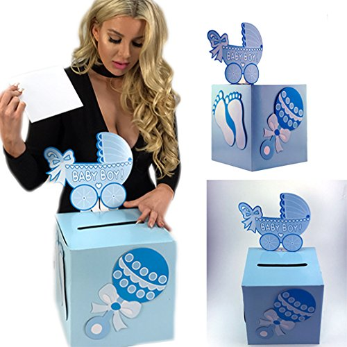 Baby Shower Treat Box (Adorox Baby Shower Candy Treat Boxes Candy Gift Box Decoration Baby Shower Keepsake (Blue))