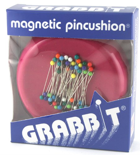 Grabbit Magnetic Pincushion Raspberry with Pins