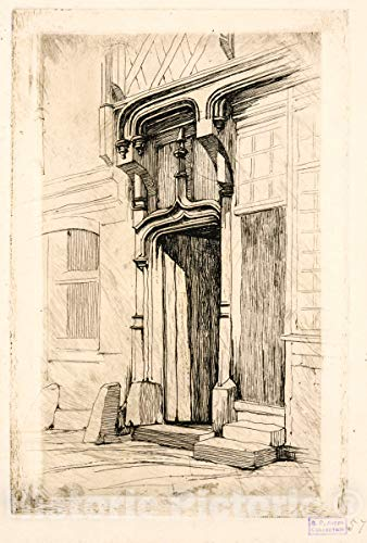 Historic Pictoric 1851 Print | Porte d
