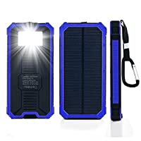 Solar Chargers 15000mAh, GRDE Portable D...