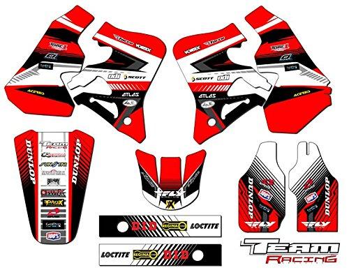 (Team Racing Graphics kit for 1995-1996 Honda CR 250R, ANALOG)