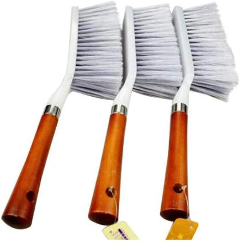 CHUJIAN Elegante cepillo de cama con mango de madera, cepillo para el polvo, cepillo de barrido, cepillo de mango largo, cepillo para el polvo, cepillo de limpieza de la capa, plumero, cepillo de cama