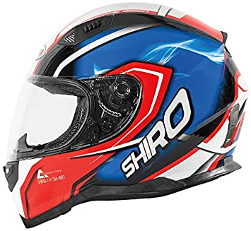 Shiro casco, Motegi RED-BLUE, tamaño L