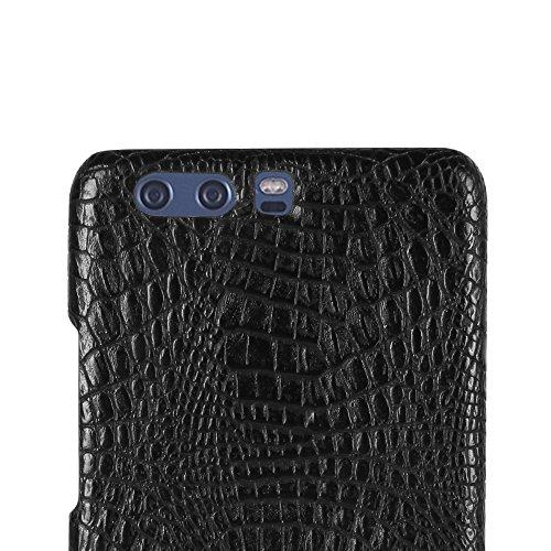 Funda Huawei P10 Plus, SunFay Funda Posterior Protector de PC Carcasa Back Cover de Parachoques Piel PU Protectora de Teléfono Para Huawei P10 Plus - Rosa Negro