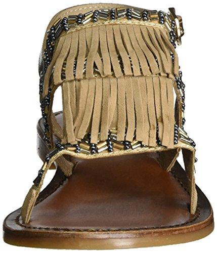 donna beige beige oro da cinturino caviglia 7350 alla Inuovo wXqaOa