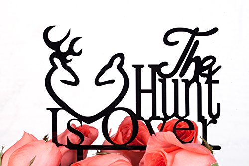 LOVENJOY Gift Box Pack Deer The Hunt is Over Acrylic Wedding Cake Toppers