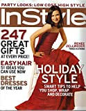Instyle Magazine, December 2004 Issue (Renee Zellweger. Party Looks: Low Cost High Style)