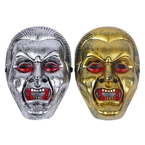 2 Pcs Halloween Cosplay Horror Vampire Mask Full