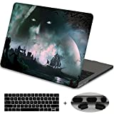 MacBook Newest Pro 13 Case 2017 & 2016 Release A1706,Mektron Plastic Print Hard Case with Dust Plug & Keyboard Cover For Macbook Pro 13'' with Touch bar and Touch ID(Fantasy Game Scene)
