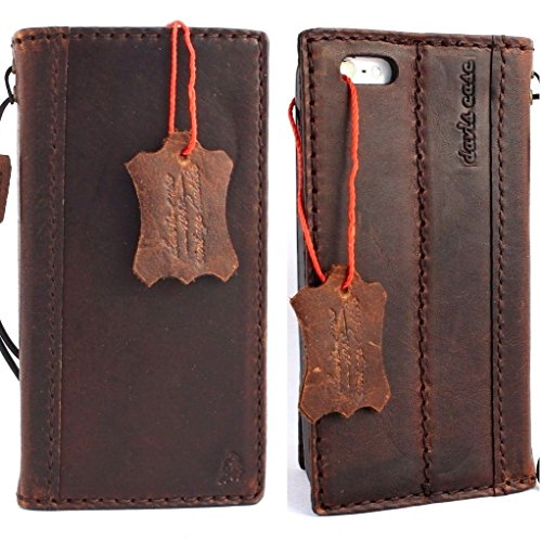 Genuine Natural Leather Handmade Case for Apple Iphone 5 5s