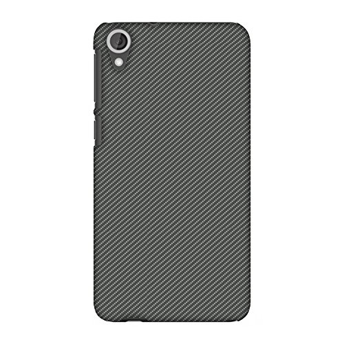 AMZER Slim Fit Handcrafted Designer Printed Hard Shell Case Back Cover for HTC Desire 820, 820G Plus - Neutral Grey Texture