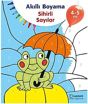 Akilli Boyama Sihirli Sayilar 4 5 Yas Kolektif Amazon Com Tr
