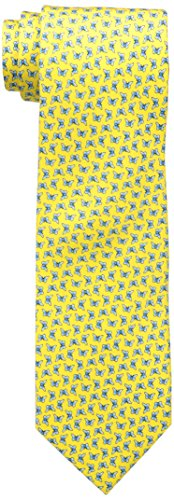 Tommy Hilfiger Men's Butterfly Print Tie, Yellow, One Size