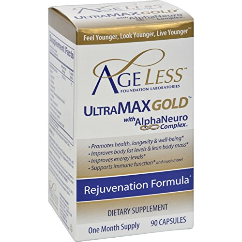 Ageless Foundation UltraMAX Gold With AlphaNeuro Complex - 90 Capsules by Ageless