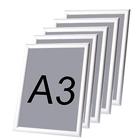 Cornici Per Poster.5 Pezzi Cornice Per Poster Cornice Portafoto Quadro Poster Cornici A Scatto Da Parete In Alluminio Formato A3