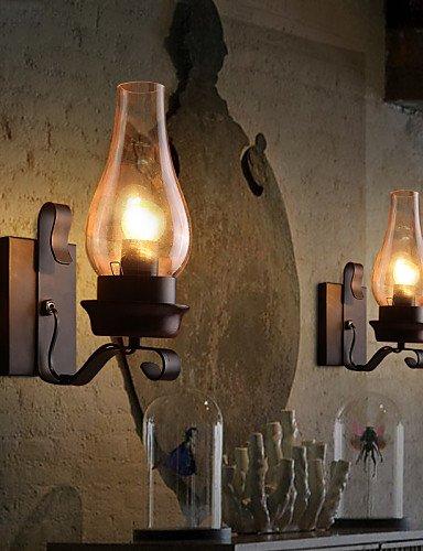 Com Meiren Retro Rustic Nordic Glass Wall Lamp Bedroom Bedside Sconce Vintage Light Fixtures 110 120v Home Kitchen