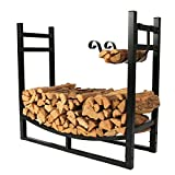 1.Go 3 Feet Indoor/Outdoor Heavy Duty Firewood Log Rack with wood Holder, 30 Inch Tall For Sale