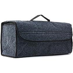 Multifunction Box Folding Car Storage Gray Travel Interior Bag Collapse Seat Portable