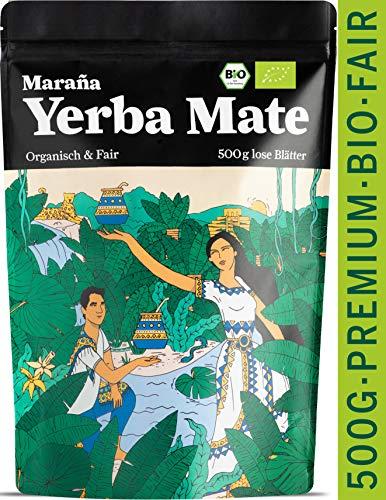 Maraña® Bio Yerba Mate Tee Grün ● 500g lose Matetee-Blätter ● Premium-Qualität ● No.1 Energy Drink Südamerika Koffein