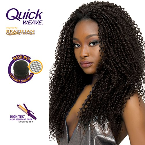 Curly Half Wigs (Outre Brazilian Boutique Half Wig Curly [#1B])