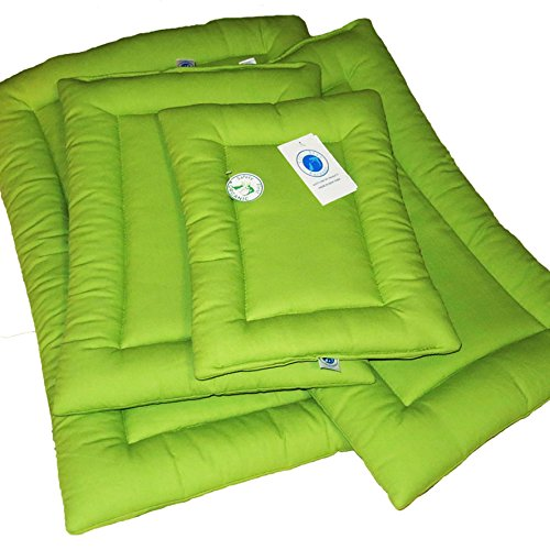 Sit. Stay. Forever. Dog Bed, Hypoallergenic, Organic Cotton Duck Pet Landing Pad / Travel Mat. Made in the USA. (X-Small (19'' x 15''), Avocado) by Sit. Stay. Forever. (Image #6)