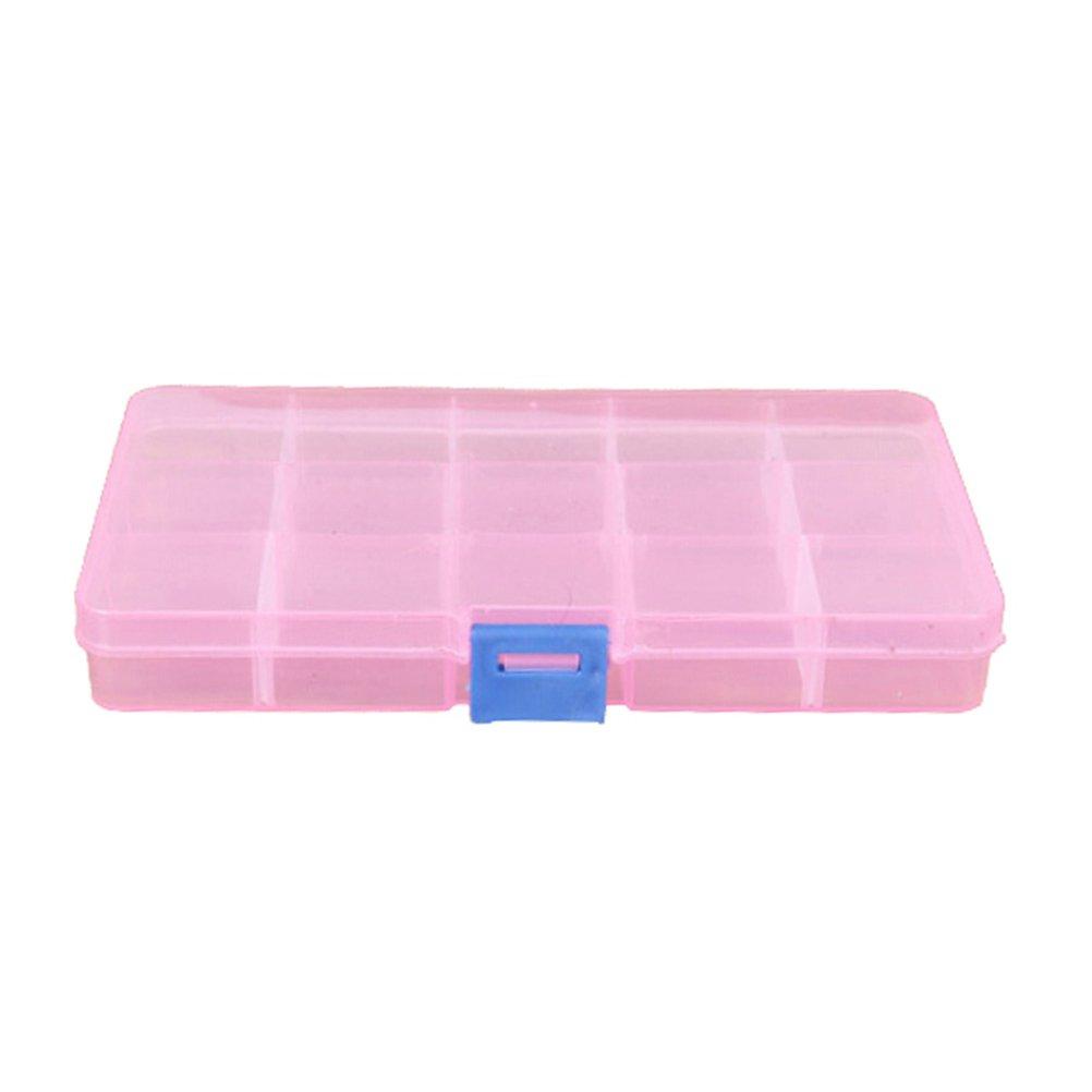1 Pcs Plastic 15 Slots Adjustable Jewelry Storage Box Case Craft Organizer Beads By Team-Management Baizhou Xu