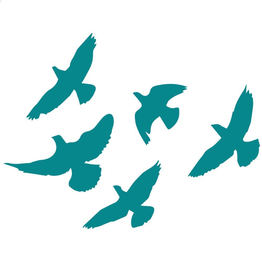 【お取り寄せ】 鳥の群れデカールステッカー 5 inch ブルー z-ao-0049-matteturquoise-5 B011DN1C54 5 inch inch マットターコイズ(壁用) 5 B011DN1C54, 湖陵町:f661b653 --- a0267596.xsph.ru